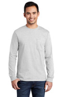 Port & Company - Long Sleeve Essential Pocket Tee.  PC61LSP