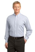 Port Authority Plaid Pattern Easy Care Shirt. S639