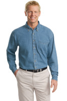 Port Authority Tall Long Sleeve Denim Shirt. TLS600