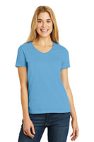 Hanes Ladies Tagless 100% Cotton V-Neck T-Shirt. 5780