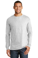 Hanes Beefy-T -  100% Cotton Long Sleeve T-Shirt.  5186