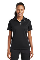 Sport-Tek Ladies Dri-Mesh Polo with Tipped Collar and Piping.  L467