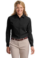 DISCONTINUED Port Authority Ladies Long Sleeve Easy Care  Soil Resistant Shirt.  L607