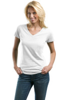 DISCONTINUED Port Authority Ladies Concept V-Neck Tee. LM1002