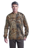 Russell Outdoors Realtree Long Sleeve Explorer 100% Cotton T-Shirt with Pocket. S020R