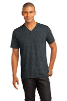 CLOSEOUT District Made - Mens Tri-Blend Short Sleeve Henley Tee. DM342