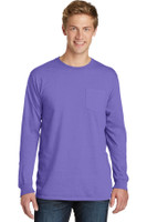 Port & Company Pigment-Dyed Long Sleeve Pocket Tee.  PC099LSP