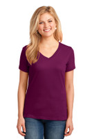 Port & Company Ladies Core Cotton V-Neck Tee. LPC54V
