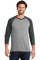 District Made Mens Perfect Tri 3/4-Sleeve Raglan. DM136