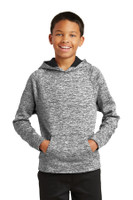Sport-Tek Youth PosiCharge Electric Heather Fleece Hooded Pullover. YST225