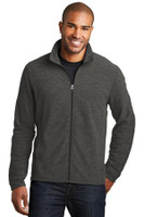 Port Authority Heather Microfleece Full-Zip Jacket. F235