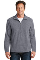 Port Authority Heather Microfleece 1/2-Zip Pullover. F234