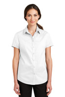 Port Authority Ladies Short Sleeve SuperPro Twill Shirt. L664