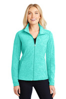 Port Authority Ladies Heather Microfleece Full-Zip Jacket. L235
