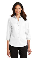Port Authority Ladies 3/4-Sleeve SuperPro Twill Shirt. L665