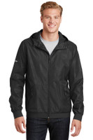 Sport-Tek Embossed Hooded Wind Jacket. JST53