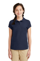 Port Authority Girls Silk Touch Peter Pan Collar Polo. YG503