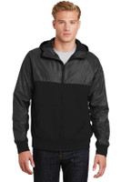 Sport-Tek Embossed Hybrid Full-Zip Hooded Jacket. JST50