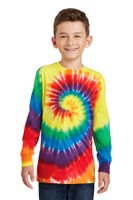 Port & Company Youth Tie-Dye Long Sleeve Tee.  PC147YLS