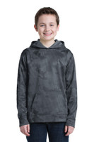Sport-Tek Youth Sport-Wick CamoHex Fleece Hooded Pullover.  YST240