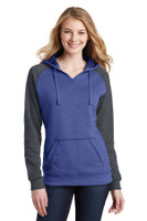 District Juniors Lightweight Fleece Raglan Hoodie.  DT296