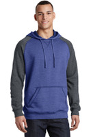 District Young Mens Lightweight Fleece Raglan Hoodie.  DT196
