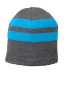 Port & Company Fleece-Lined Striped Beanie Cap. C922