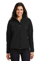 Port Authority Ladies Textured Soft Shell Jacket. L705