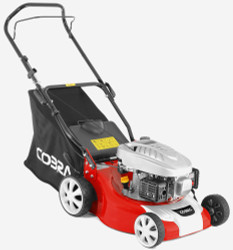 "Cobra M40C 16"" Petrol Powered Lawnmower"