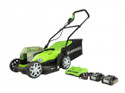 Greenworks 48V 36cm  G24X2LM36K2X Lawnmower with 2 x 24V Batteries and  Charger