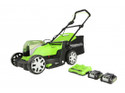 Greenworks 48V 36cm  G24X2LM41K2X Lawnmower with 2 x 24V Batteries and  Charger