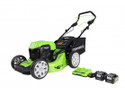 Greenworks GD24X2LM46SK4X Cordless Self Propelled Lawnmower  2 x 2Ah Batteries and Charger