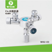 Wyin 3 Way CO2 Splitter - Metal CO2 Flow Controller