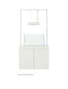 ADA Wood Cabinet White High Type (w/stand) W90xD40xH70(cm)