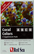 Red Sea Reef Care - Coral Colours ABCD (4 x 100ml bottles) Trial Pack