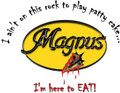 "Magnus Decal ""I am here to Eat"" 13"" x 10"""