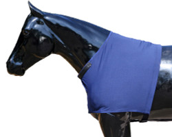 Help protect your horse's shoulders against blanket rub by using a Sleazy Sleepwear for Horses™ Shoulder Guard. It also provides additional warmth for the shoulders. The neck opening is enhanced inside with a fleece band, and the neck opening is made adjustable with Velcro tabs. The fleece shoulder guards are made from polyester and spandex and are available in 7 sizes. Fleece Shoulder Guards are available in BLACK ONLY.  Other features include;   •Generously sized patterns.  •4-way stretch, premium, fabrics.  •All closures use a special, low profile, high strength, hook & loop fastener, for maximum strength, reliability, and ease of use.  •Fully finished hems with encased elastic for durability, and heavy duty, fully hemmed, girth elastic.