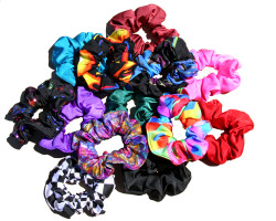 Match your horse, model horse, Sleazy Sleepwear Helmet Cover, or just use as a fun and functional accessory, with a Lycra Hair Scrunchie. Available in all of Sleazy Sleepwear for Horses'™ solids, prints, and foils. One size.