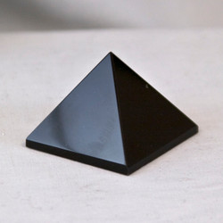 Obsidian is said to be a grounding stone and also a protective stone.  It is also said to shield from negativity.   Obsidian Pyramid - base is approx. 2 inches and height is approx. 1 1/2 inches.  Weight is .21 lbs or 3.36 oz.  The Obsidian Pyramid pictured is the one you will be receiving upon purchase of this item.