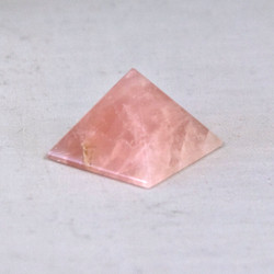 Rose Quartz is said to have a calming energy and to provide peacefulness and restore harmony.   Rose Quartz Pyramid - base is approx. 1 1/4 inches and height is approx. 1 1/8 inches.  Weight is .07 lbs or 1.12 oz.  The Rose Quartz Pyramid pictured is the one you will be receiving upon purchase of this item.