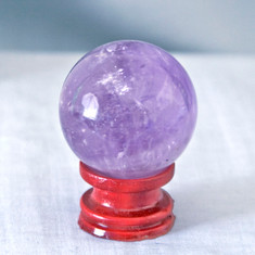Amethyst is known for it's power, protection and healing energies.  Helps to calm emotions and promotes clarity.   Amethyst Sphere - Weight is .29 lbs or 4.64 oz., sphere is approx. 45 mm.  The Amethyst Sphere pictured is the one that you will be receiving upon purchase of this item.  Stand is not included.