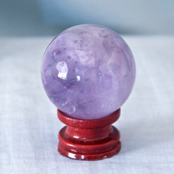 Amethyst is known for it's power, protection and healing energies.  Helps to calm emotions and promotes clarity.   Amethyst Sphere - Weight is .32 lbs or 5.12 oz., sphere is approx. 45 mm.  The Amethyst Sphere pictured is the one that you will be receiving upon purchase of this item.  Stand is not included.