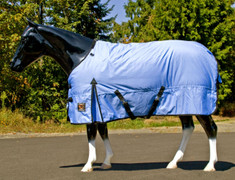 Fun, Fun, Fun new colors for Winter Turnout Blankets. - Outfit your horse in these new colors. These eye catching winter blanket stand out above the rest. This great blanket is constructed with a tough 600 ripstop denier that is, windproof, waterproof, and has a breathable outer shell. It is filled with a 240 gm fill and is fully lined with smooth 70 denier nylon. Other great features include: • 600 denier waterproof, ripstop, windproof, breathable shell • Seamless back design • 240 gm warm fill • Full 70 denier smooth nylon lining with ID label • Double buckle open front design • Extra deep cut sides with cross surcingles • Removable elastic rear leg straps • Reinforced shoulder gusset for unrestricted movement • Tail protector & fleece withers protector • Contrasting Black binding with logo patch  ** Have a dog?  Order the matching Windhorse Dog Coat too!   Made by Sleazy Sleepwear for Horses™ for The Universal Horse  Available in 10 sizes 68 - 84.