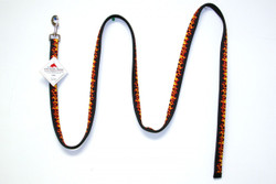 "Lead, Equine Elite  1"" x 96""  Design and function best describe our ""Equine Elite"" line of leads! Made with a highly durable, vibrantly colorful printed design on a polyester braid, then sewn onto 2 and 3 layers of accenting nylon.  Red Haute Horse Equine Elite products are made in the U.S.A.   NOTE: All Equine Elite Leads use Nickel Plated hardware for durability in all weather conditions and uses"