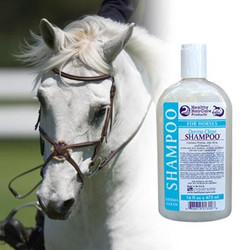 Healthy HairCare Derma Clean Shampoo™ - A creamy, thick, protein enriched antibacterial shampoo that gently cleanses manes, tails and hair coat, and helps to assist in preventing many minor bacterial and skin problems.  Healthy HairCare Derma Clean Shampoo™ is great in the summer when horses are subject to rain rot and other bacterial caused issues.  Healthy HairCare Derma Clean Shampoo™, A mild but effective shampoo that leaves the coat shiny, soft, glowing and smelling fresh and clean. Great to use as a deodorizer for dogs too.  Available Sizes: 16 oz. & 32 oz.