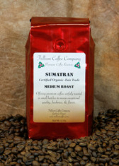 "Sumatran Certified Organic - Fair Trade-  A world famous coffee with medium to full body, low acidity, often deeply pungent or bittersweet, with an aromatic complexity that may range from floral and fruit notes, through the more typical cedar, papaya fruit and dark chocolate notes, to rather heavily  musty or ""earthy"" notes."