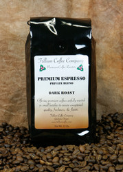 Premium Espresso Blend - a perfectly balanced harmony of sweet fruit, cocoa, and soft nuttiness with a clean bright finish. A strong combination of bold aroma and flavor with a great créma.