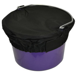 The Basic Bucket Top is perfect for everyday use, while trailering or at Shows.  Made with 840 denier waterproof nylon they are tough, attractive and an item everyone that deals with buckets needs!  The Basic Bucket Top comes in 2 sizes.  They fit any shape bucket within their respective sizes.  Available Sizes: Small (8 Quart)  or  Large (5 Gallon)  Available in Black only.