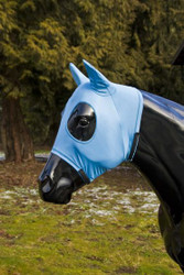 This special design from Sleazy Sleepwear for Horses extends over your horses ears to keep out annoying biting insects.  It is made of nylon spandex and is available in 13 solid colors.  Available in 5 sizes.