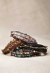 "Cowboy Collectibles Horse Hair Wrap Bracelets  Beaded Wrap Bracelets with Horse Hair this beauties make wonderful gifts to give or keep!  These wrap bracelets are assembled with two strands of beads and one braid of horse hair. Wrapping twice or more around your wrist, depending on the size, these bracelets are finished with metal end caps and a lobster claw clasp.  Layer these Wrap Bracelets to create your own look.  Small Bracelets measure -14""  Medium Bracelets measure -15""  Large Bracelets measure -16""     Handmade in the USA"